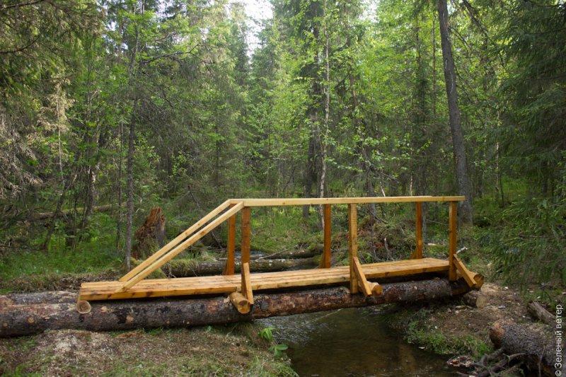 Мост через ручей своими руками 94